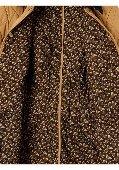 Giacca trapuntata a rombi con colletto in velluto a coste marrone BURBERRY | Giacche | 8031702-LYDDA1420
