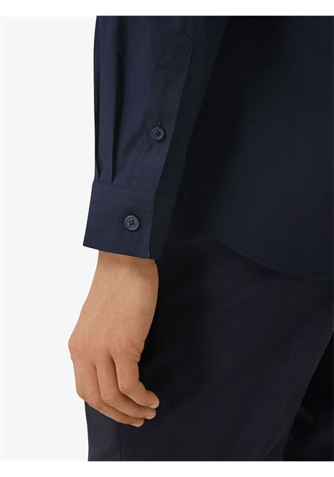 navy stretch cotton Monogram Motif slim-fit shirt  BURBERRY |  | 8032306-SHERWOODA1222