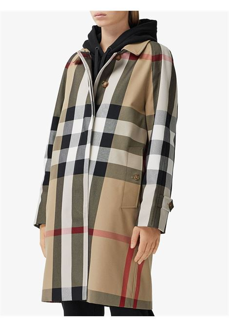 beige cotton check twill trench coat featuring Vintage Check pattern BURBERRY |  | 8035885-CAMDENA7028