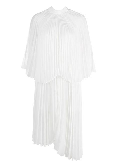 abito da cocktail plissettato asimmetrico bianco completamente pieghettato BROGNANO | Abiti | 29BR1A26-20476301
