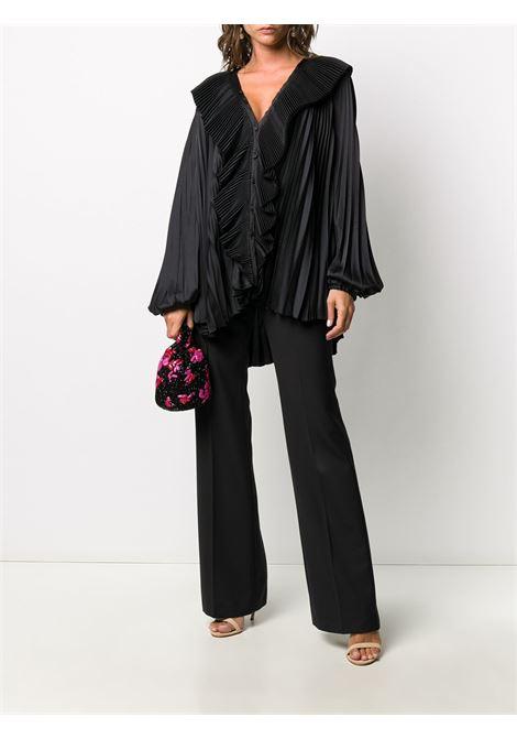 blusa nera a pieghe oversize con interamente plissettato BROGNANO | Camicie | 29BR1M09-20476499