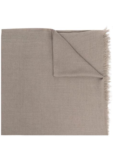 Tortora brown Emily 140x140 squared cashmere scarf   DESTIN |  | EMILYC11