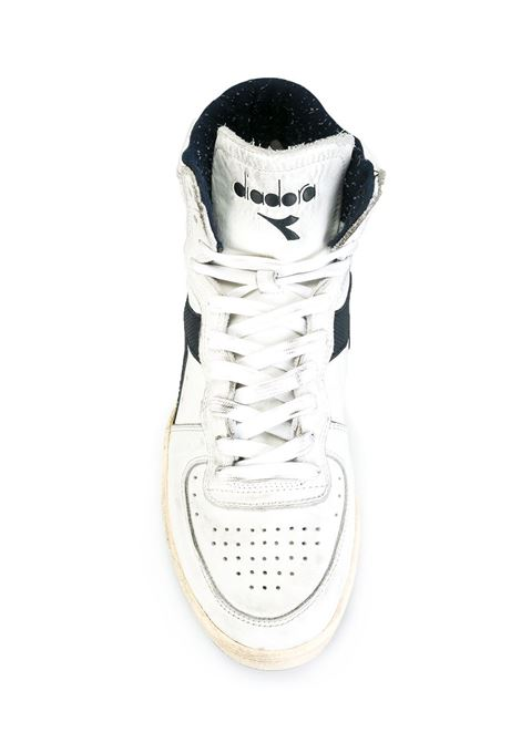 White leather 'Basket Used' hi-tops with blue details DIADORA |  | 158569-MI BASKET USEDC1494