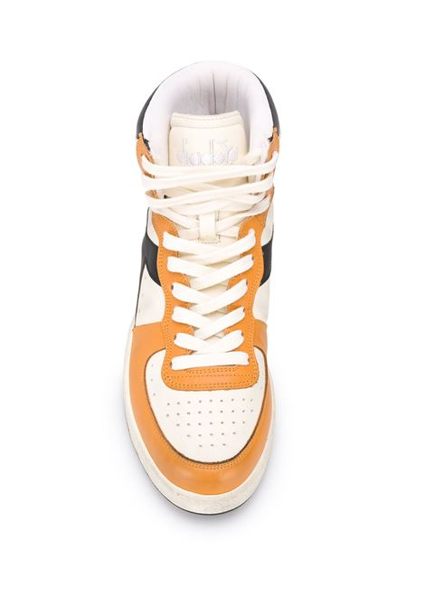 Orange, cream and black leather Mi Basket Used sneakers featuring colour-block panelled design DIADORA |  | 158569-MI BASKET USEDC8820