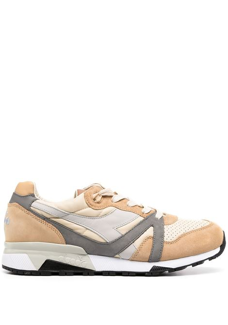 Beige and grey leather panelled colour block sneakers  DIADORA |  | 172782-N9000 H ITA25020