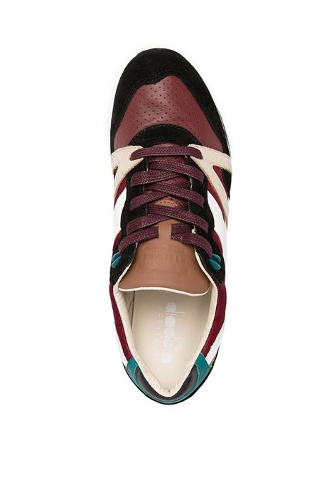 Multicolored bordeaux, white and azure leather and fabric panelled colour block sneakers  DIADORA |  | 172782-N9000 H ITA55083