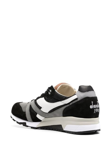 Black, grey and white suede and fabric panelled low sneakers  DIADORA |  | 172782-N9000 H ITAC8514