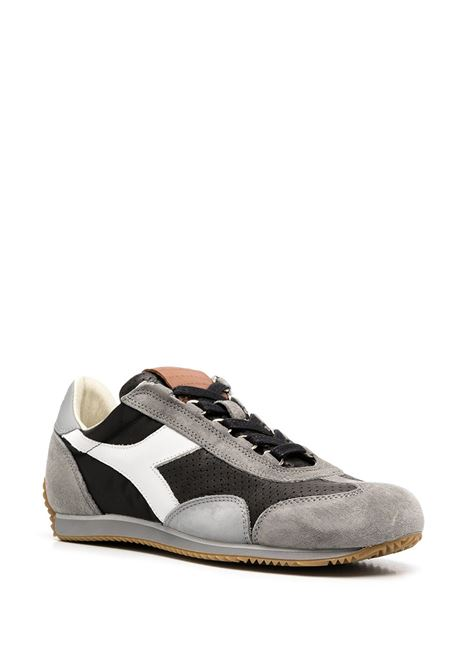 Grey, black and white leather Equipe Italia sneakers  featuring colour-block panelled design DIADORA |  | 176046-EQUIPE ITALIAC8514