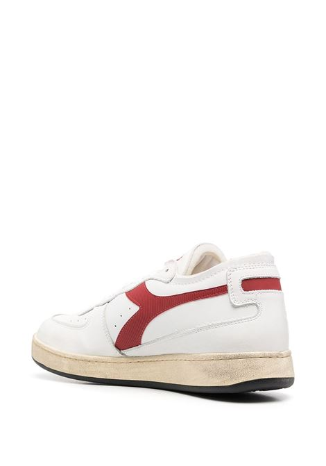 White and red leather Basket Row sneakers  featuring colour-block print DIADORA |  | 176282-MI BASKET ROW CUTC7114
