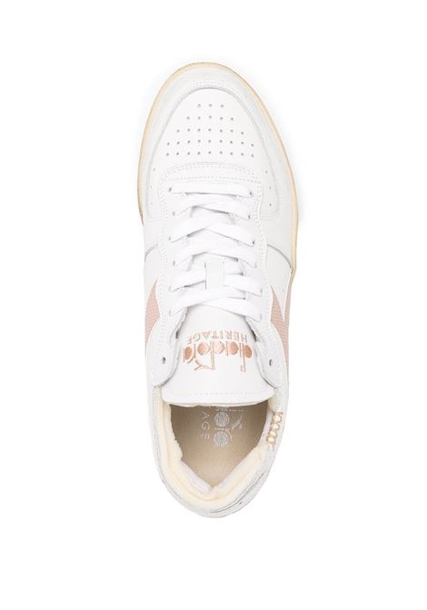 Light pink and white leather Basket Row sneakers  featuring colour-block print DIADORA |  | 176282-MI BASKET ROW CUTC8984