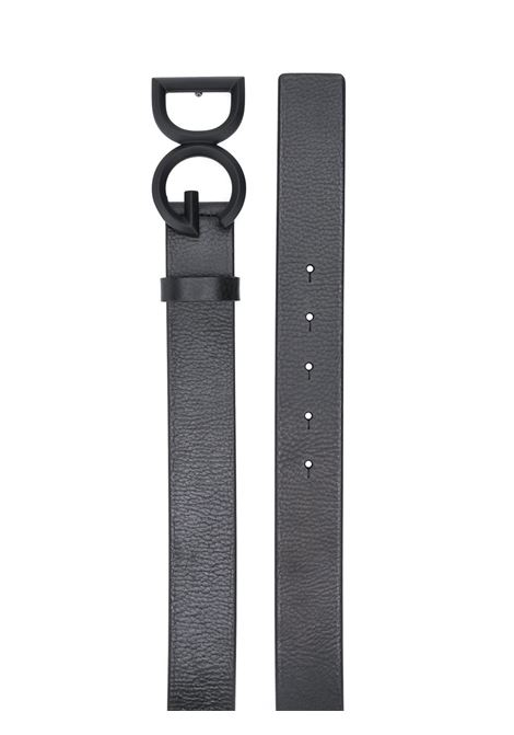 Black calf leather 3,5 buckle belt featuring front DG darkened buckle fastening DOLCE & GABBANA |  | BC4465-AV4808H567
