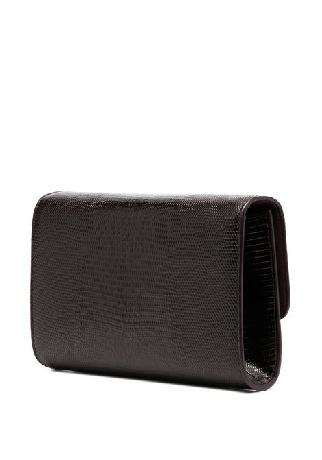 Bordeaux calf leather Iguana-print mini bag featuring gold-tone hardware DOLCE & GABBANA      BI1275-AJ5478G360
