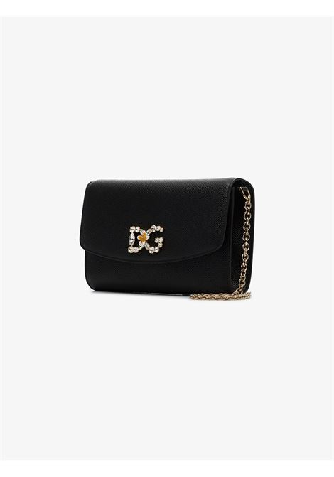 calf leather shoulder strap bag with Svarowski crystal embellishment logo DOLCE & GABBANA |  | BI1275-AU77180999