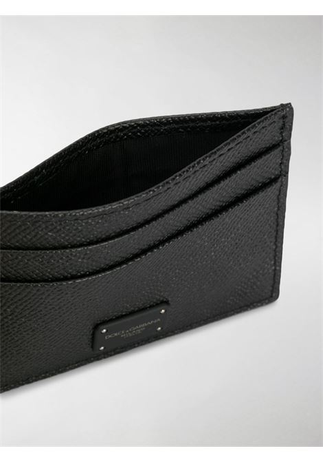 black saffiano leather cardholder with front logo patch DOLCE & GABBANA |  | BP0330-AZ60280999