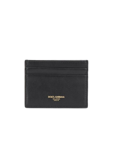 black calf leather cardholder with golden front logo DOLCE & GABBANA |  | BP0330-AZ60752