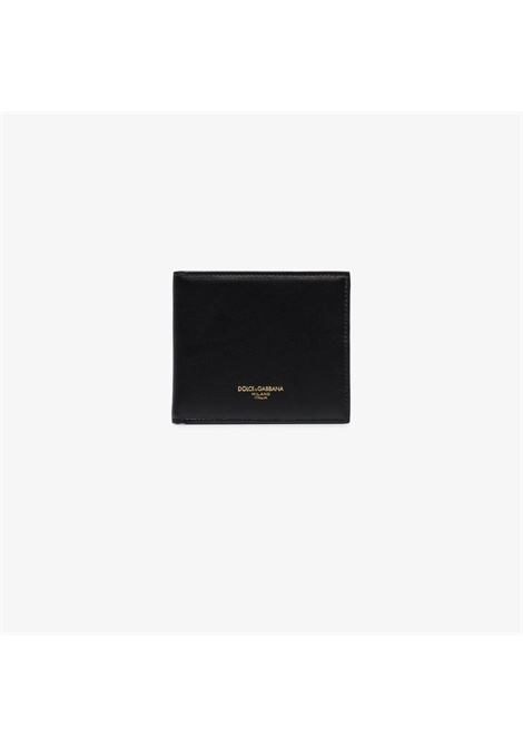 black bi-fold calf-leather wallet with gold logo details DOLCE & GABBANA |  | BP1321-AZ60780999