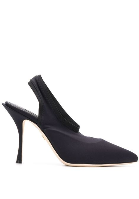 black leather satin pumps with pointed toe and 100 heels DOLCE & GABBANA |  | CG0323-AZ16180999