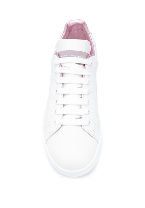 white leather portofino sneakers with pink details DOLCE & GABBANA |  | CK1544-AX61587587