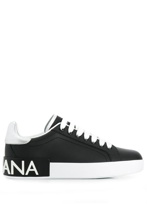 black calf leather Portofino sneakers with silver details DOLCE & GABBANA |  | CK1587-AH5278B979