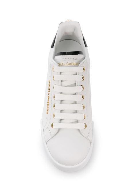 white leather Portofino sneakers with gold and pearl details DOLCE & GABBANA |  | CK1602-AH50689662