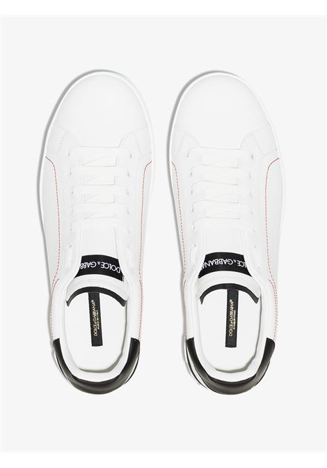 white leather portofino sneakers with black and red contrasting details DOLCE & GABBANA |  | CS1760-AH52689697