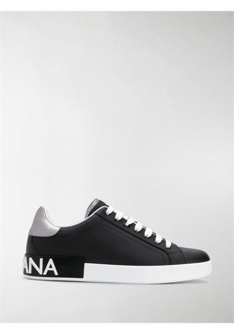 black calf leather portofino sneakers with silver details DOLCE & GABBANA |  | CS1760-AH5278B979