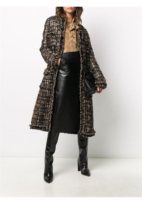 Brown,rust and beige cotton-wool blend tweed single-breasted coat DOLCE & GABBANA |  | F0AF5T-FMMF9S8030