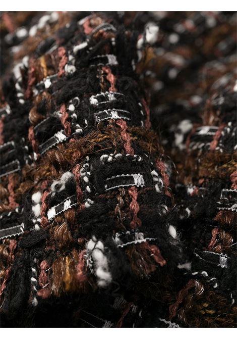 Cappotto lungo in tweed lana melange marrone scuro con maniche a 3/4 DOLCE & GABBANA | Cappotti | F0AH8T-HUMEIS8230
