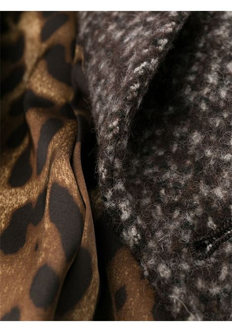brown wool mid lenght coat with leopard internal lining DOLCE & GABBANA |  | F0Y52T-FMMFVS8031