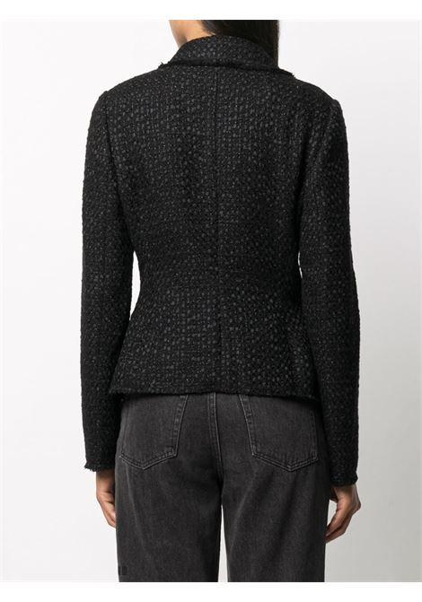 giacca nera doppiopetto in tweed misto cotone lana DOLCE & GABBANA | Giacche | F26AOT-HUMJZN0000