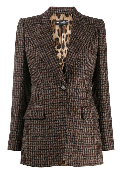 giacca lana poliestere galles 1 bottone rever lancia+velluto DOLCE & GABBANA | Giacche | F29GZT-FQMIBS8100