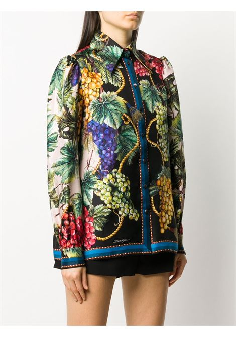 multicolored fruit and grape print silk shirt DOLCE & GABBANA |  | F5N79T-F112FHF2LP