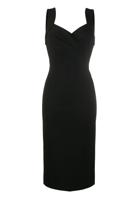 black viscose sleveless midi dress DOLCE & GABBANA |  | F6J4QT-FUGKFN0000