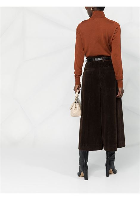 Brown stretch-cotton corduroy wide-leg trousers  DOLCE & GABBANA |  | FTBWFT-FUWC5M0023