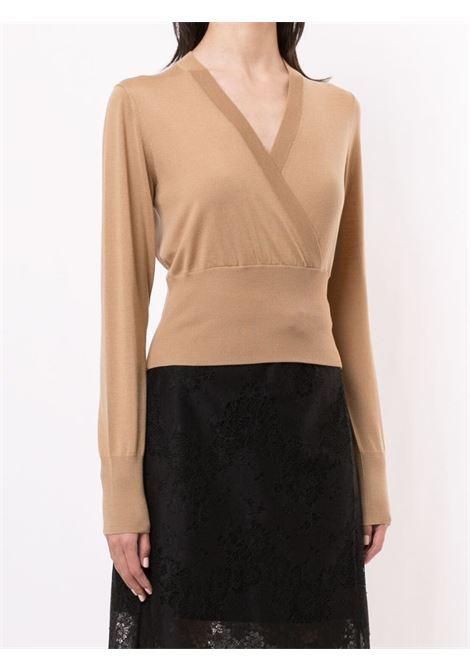 Beige virgin wool wrap jumper  DOLCE & GABBANA |  | FX908T-JAVYYM2366