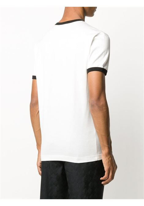 white cotton t.shirt with black contrasting edges DOLCE & GABBANA |  | G8JX7T-FI733HA2GT