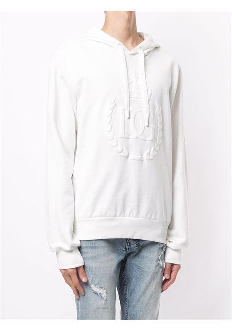 White cotton Dolce & Gabbana tonal-logo sweatshirt  DOLCE & GABBANA |  | G9OF9Z-G7WNIW0111