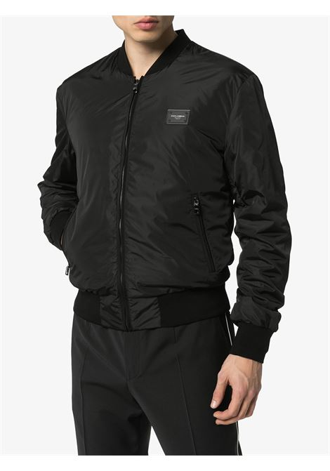 black nylon bomber with front zip fastening DOLCE & GABBANA |  | G9OW1T-FUMQGN0000