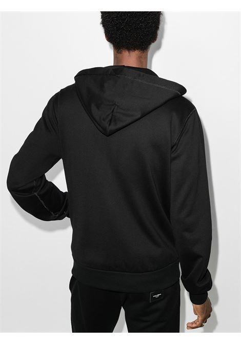 felpa nera con cappuccio regolabile e zip DOLCE & GABBANA | Felpe | G9PD2T-FU7DUN0000