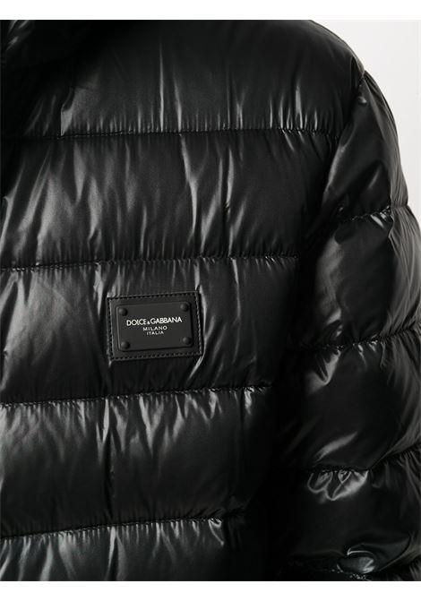 piumino in nylon nero imbottito di piuma d'oca DOLCE & GABBANA | Piumini | G9RE2T-G7XGZN0000