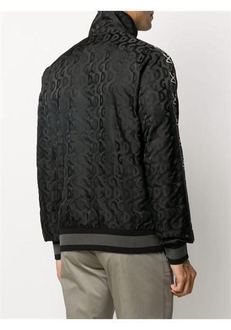 black jacquard Dolce & Gabbana logo zipped jacket  DOLCE & GABBANA |  | G9SP7T-FJSBDN0000