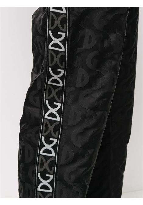 trackpants in black jacquard nylon with all-over DG logo DOLCE & GABBANA |  | GWR1AT-FJSBDN0000