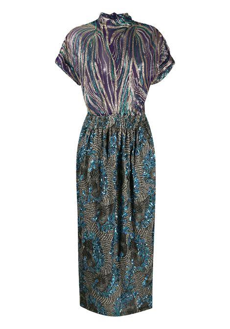 Blue Doria dress featuring sequin detailing DRIES VAN NOTEN |  | DORIA EMB-1428503