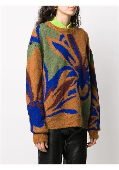 Ochre brown and cobalt blue virgin wool-alpaca blend  DRIES VAN NOTEN |  | MARSHMALLOW-1718701