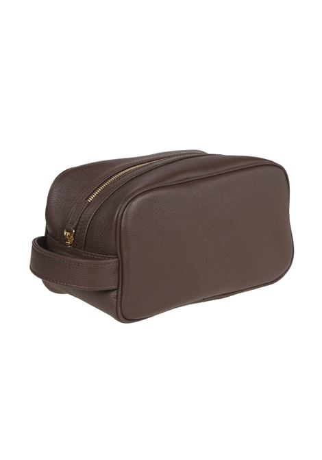 chocolate brown calf leather zipped wash-bag ELEVENTY |  | 979BO0112-BOR2800105