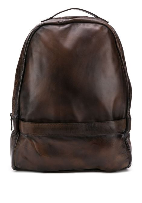 brown vintage effect leather backpack with bronze zipped details ELEVENTY |  | A77BORA01-PEL0A00105