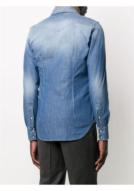 Blue cotton long-sleeved light wash denim shirt   ELEVENTY |  | B70CAMB01-TES0B10711