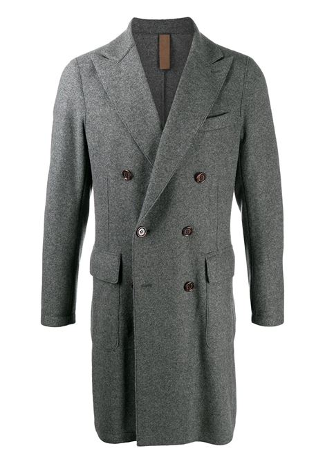 Grey wool blend double-breasted coat featuring peak lapels ELEVENTY |  | B70CAPB01-TES0B08914