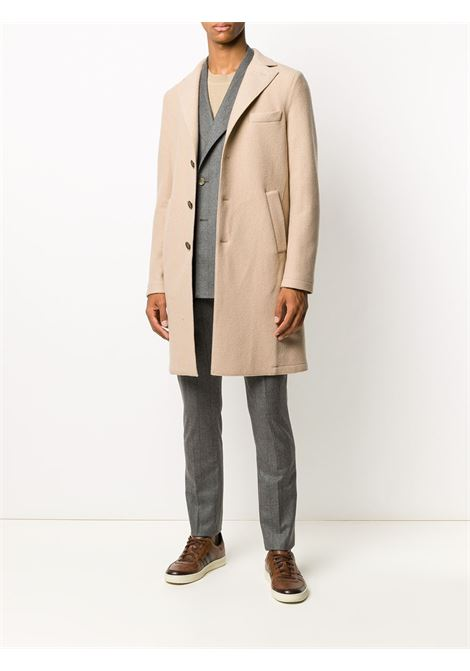 Beige single-breasted coat featuring notched lapels ELEVENTY |  | B70CAPB03-CAS2400402N