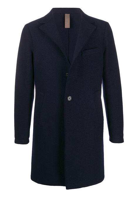 Cappotto monopetto in lana blu scuro in lana vergine con scollo a V ELEVENTY   Cappotti   B70CAPB03-CAS2400419